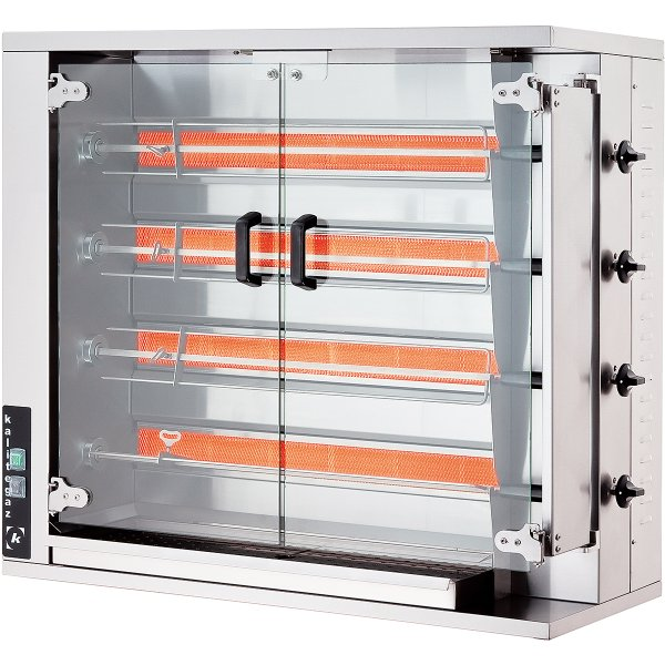 Commercial Chicken Rotisserie Oven Gas 4 spit 16-20 chickens | Adexa CRG4