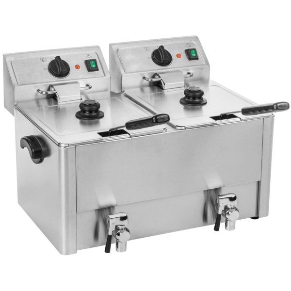 Commercial Deep fat Fryer 8+8 litres 6.5kW Countertop | Adexa HDF88