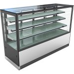 Cake counter 1000mm 3 shelves Mirror front LED | Adexa KTH107SF3