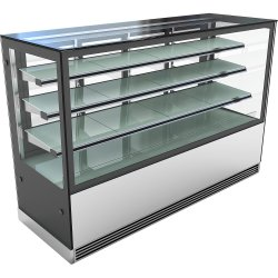 Cake counter 2000mm 3 shelves Mirror front LED | Adexa KTH207SF3