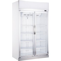 Commercial Bottle cooler 1000 litres Fan assisted cooling Hinged doors | Adexa LG-1200CF