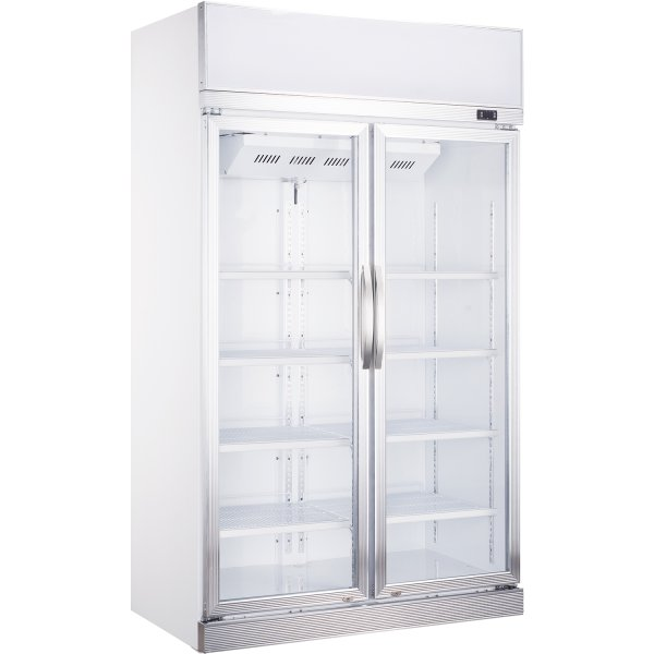 Commercial Bottle cooler 1000 litres Fan assisted cooling Hinged doors   Adexa LG-1200CF
