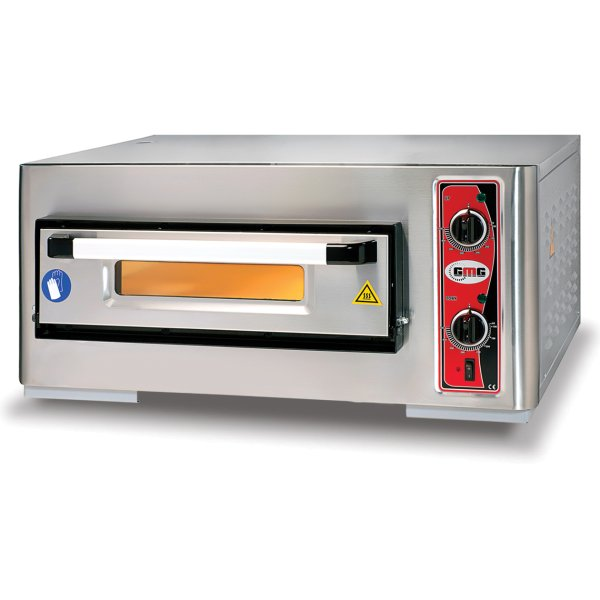 "Electric Pizza Oven 1 chamber 500x500mm Capacity 4 pizzas at 10"" 230V/1 phase 