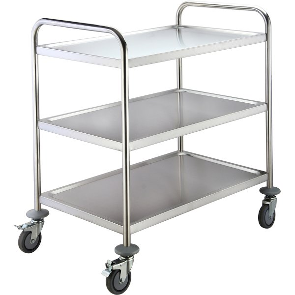 Commercial Serving/Service/Clearing Trolley Stainless steel 3 tier 860x540x940mm | Adexa RST3A