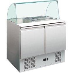 Saladette Glass top 900x700x1350mm 2 doors   Adexa S900CG