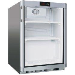 Commercial Freezer Undercounter Stainless steel 129 litres Single glass door | Adexa SF200G