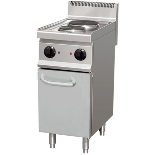 Professional Electric Cooker 2 plates 4.6kW Cabinet base | Adexa THE7P2M