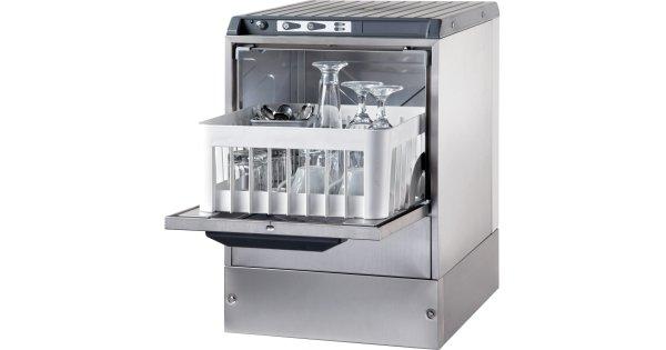 Glass Washing Machine 30 Racks Hour 350mm Basket Gravity