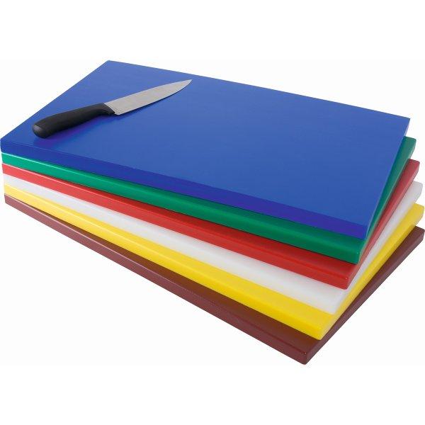 Professional Cutting Board Blue Polyethylene 600x400x20mm | Adexa 4757B