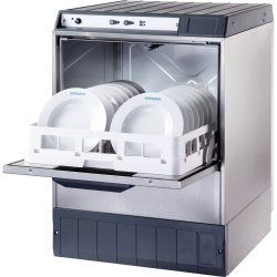 Commercial Dishwasher 540 plates/hour 500mm basket Drain pump Detergent pump 13A | Omniwash 5000STDDPS