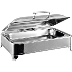 Chafing Dish Electric heating GN1/1 Glass lid Stainless steel 9 litres | Adexa AD1102
