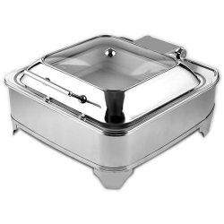 Chafing Dish Electric heating GN2/3 Glass lid Stainless steel 5.5 litres | Adexa AD3202
