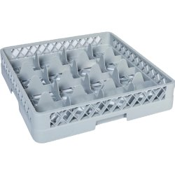 Cups/Glass rack 16 compartments 500x500x100mm | Adexa BB16