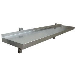 Wall shelf 1 level 1000x300mm Stainless steel | Adexa DR310