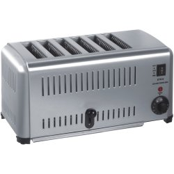 Commercial Slot Toaster 6 slices | Adexa ETS6A