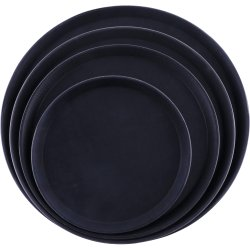 "Serving Tray Fibreglass Round 14"" Black | Adexa FBR1414"