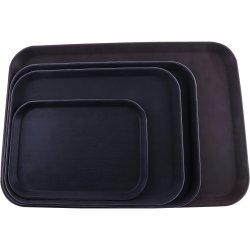"Serving Tray Fibreglass Rectangular Black 14""x18"" | Adexa FBR1418"