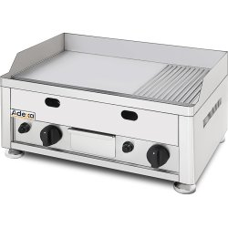 Commercial Gas Griddle Smooth plate 2 zones Countertop | Adexa GGN6002
