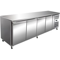 Commercial Refrigerated Counter 4 doors Depth 700mm | Adexa GN4100TN