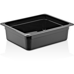 Polycarbonate Gastronorm Pan GN1/2 Depth 100mm Black 5 litres | Adexa GNP12100B