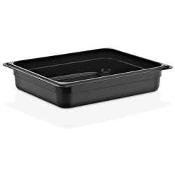 Polycarbonate Gastronorm Pan GN1/2 Depth 65mm Black 3 litres | Adexa GNP1265B