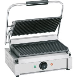 Heavy Duty Large Panini Contact grill 2.2kW Ribbed | Adexa EG02A