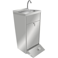 Commercial Hand Wash Sink Cabinet Stainless steel Pedal control | Adexa THHWR445