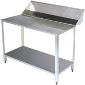 Dishwasher tables for Pass Through Dishwashers