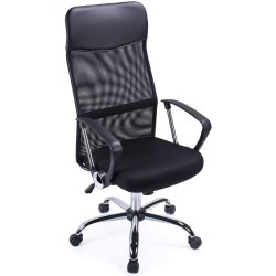 Mesh & Leather Office Chair Black | Adexa OC014