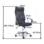 Mesh & Leather Office Chair Black | Adexa OC014