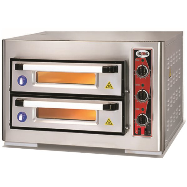 """Electric Pizza Oven 2 chambers 620x620mm Capacity 4+4 pizzas at 12"""" 230V/1 phase   Adexa PF6262DE"""