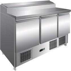Refrigerated Prep Table 3 doors Sandwich top 8xGN1/6 | Adexa PS300