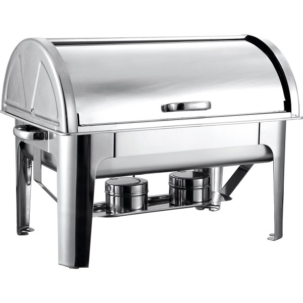 Roll top Chafer GN1/1 Stainless steel Mirror polish 9 litres | Adexa R23301