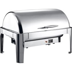 Roll top Chafer Electric heating GN1/1 Stainless steel Mirror polish 9 litres   Adexa RA2301BE