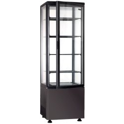 Refrigerated Display case 4 grids 235 litres Black Vertical | Adexa RT235LB