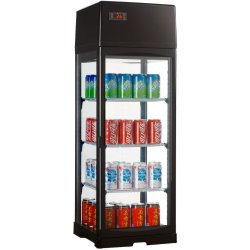 Refrigerated display 3 grids 80 litres Black | Adexa RTD80LB