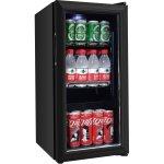 Mini Drinks Fridge Glass door 40 litres Black   Adexa SC40