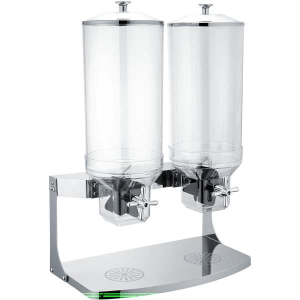 Commercial Cereal Dispenser 2x10 litres Double | Adexa SCD10B