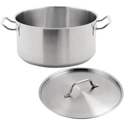 Professional Stew pan with Lid Stainless steel 7.0 litres | Adexa SE12416