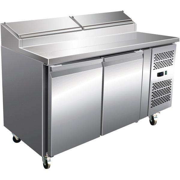 Preparation Counter 2 doors 7xGN1/4 1360x700x1085mm | Adexa SH27