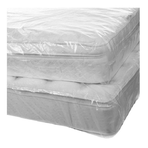 Polythene King Mattress bags Light duty Clear 1530x390x2275mm 50 bags/roll | Adexa KMC153