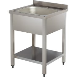 Sink 1 bowl Bottom shelf Splashback 600mm Depth 600mm | Adexa SN606D