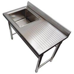 Commercial Sink Stainless steel 1100x600x900mm 1 bowl left Splashback | Adexa ST145BL