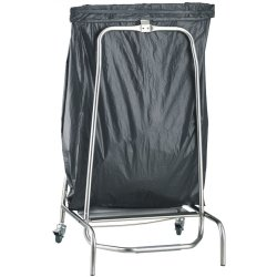 Professional Sack Holder Trolley with Castors & Pedal Closed mouth | Adexa STBH01