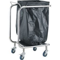 Professional Waste Bag Holder Trolley | Adexa STBH02