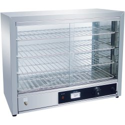 Commercial Hot display case Pie warmer 4 shelves Countertop | Adexa SW580