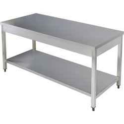 Professional Work table Stainless steel Bottom shelf 1000x600x850mm | Adexa THATS106