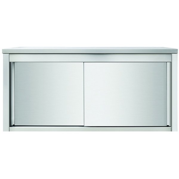 Wall Cabinet Sliding Doors Stainless Steel Width 1000mm Depth 400mm