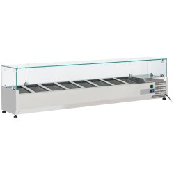 Refrigerated Servery Prep Top 1800mm 9xGN1/4 Depth 330mm | Adexa VRX1800/330