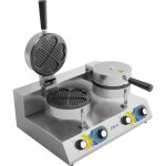 Commercial Waffle maker Double Round | Adexa WF2207D